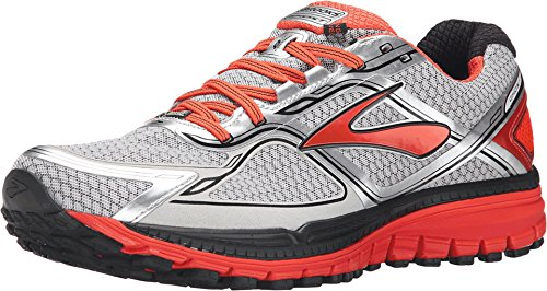 Brooks Ghost 8 GTX, Zapatillas de Running Hombre, Plata/Naranja, 45 1/2