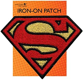 Superman Iron-on sew-on Patch Applique 100% Embroidery Superhero Justice League