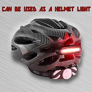 ZXSFC USB Recargable Bicicleta 6 Modos Luz Cola Flash LED Lámpara Luz Alerta Impermeable (Rojo y Blanco)