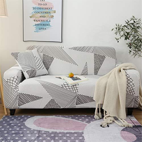 MRCOCO Funda para Sofá Elasticas De 1 2 3 4 Plazas Impresión Floral Universal Funda Cubre Sofas Ajustables, Antideslizante Protector Cubierta De Muebles con Cuerda De Fijación,Style 3,4seat