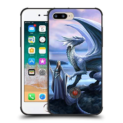 Head Case Designs Ufficiale Anne Stokes Nuovi Orizzonti Amicizia di Drago Cover Resistente agli Urti Nero Opaco Compatibile con Apple iPhone 7 Plus/iPhone 8 Plus