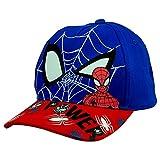 hi-lo Marvel Avengers Spider-Man Basecap Kinder nachtleuchtend Baumwolle, Blau 54, Premium Kinder-Mütze Kindergarten