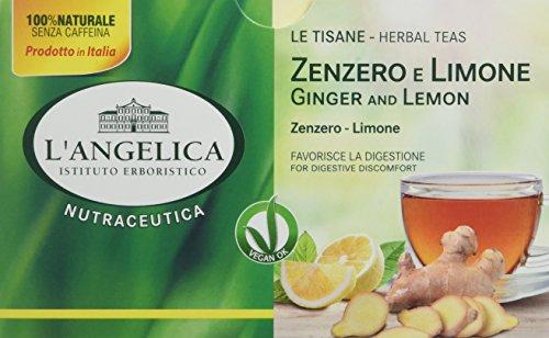 L\'Angelica Tisana Funzionale Zenzero e Limone - Pacco da 10 x 38 g