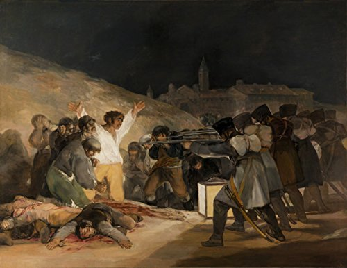 Francisco de Goya Giclee Kunstdruckpapier Kunstdruck Kunstwerke Gemälde Reproduktion Poster Drucken(Goya y Lucientes, Francisco de - Der 3. Mai 1808 in Madrid die Hinrichtungen auf Principe Pio Hil)