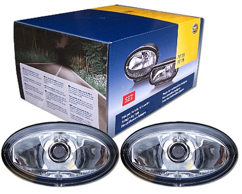 Hella FF50 Kit de phares halogène ovales avant en verre H7 12 V 55 W