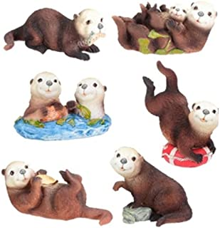YTC Sea Otters (Set of 6) - Collectible Figurine Statue Sculpture Figure