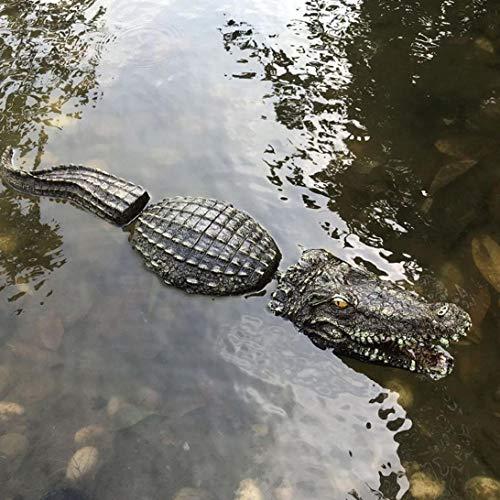 Psycker Schwimmender Krokodil, Teich Garten Tier Decoy Dekoration, Lebensechtes Krokodil Wasser Köder Lockvogel Dekoration, Lustiges Geschenk für Freunde, 80x14x12 cm