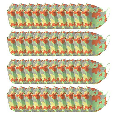 5 Capas Tela para Adultos Proteccion, 94 Unisex Estampado de Camuflaje Bufanda con Elástico para Los Oídos Bolsa para Trabajo Ciclismo Gimnasio Protección para Actividades al Aire Libre(C4-40pc)