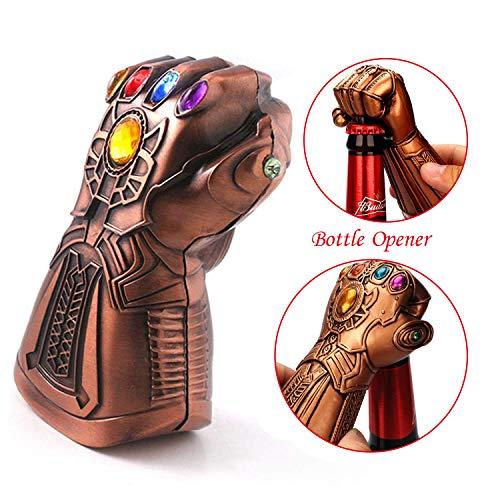 Abridor de botellas de cerveza, Marvel The Avengers 4 Endgame abridor de botellas, Thanos Glove abridor de botellas, ideal para bares, fiestas, amantes de la cerveza