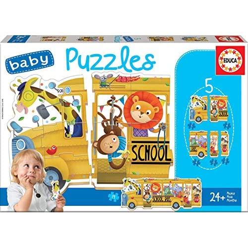 Educa Borras- Baby Puzzles School Bus Puzzle, Colore Vario, 17575