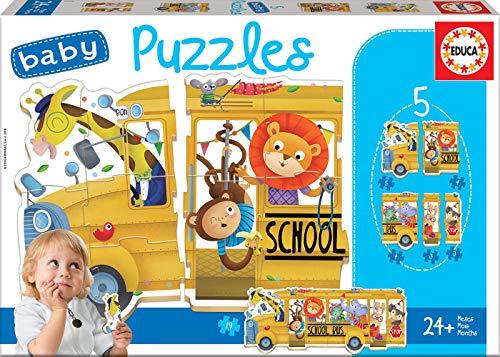 Bus de Animalitos Pack de 5 Puzzles, Multicolor (17575)