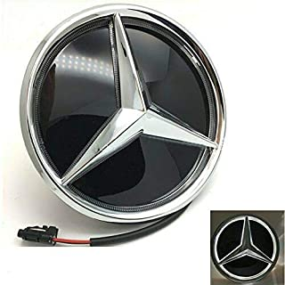 Illuminated Logo Hood Star DRL Front Car Grille Badge JetStyle LED Emblem for Mercedes Benz 2005-2013 White Light Drive Brighter