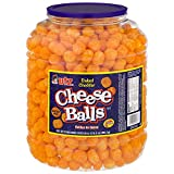 REAL CHEESE: The Utz Cheese Balls are made from real cheese and are baked for a taste of irresistibly cheesy goodness. These crunchy, munchy cheese balls are finger licking fun you won't want to put down. PARTY SNACKS: The combination of real cheese ...