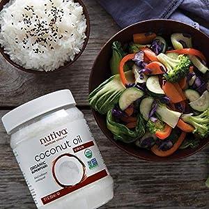 Nutiva Organic Cold-Pressed Virgin Coconut Oil, 15 Fluid Ounce | USDA Organic, Non-GMO, Fair Trade | Vegan, Keto, Paleo… |