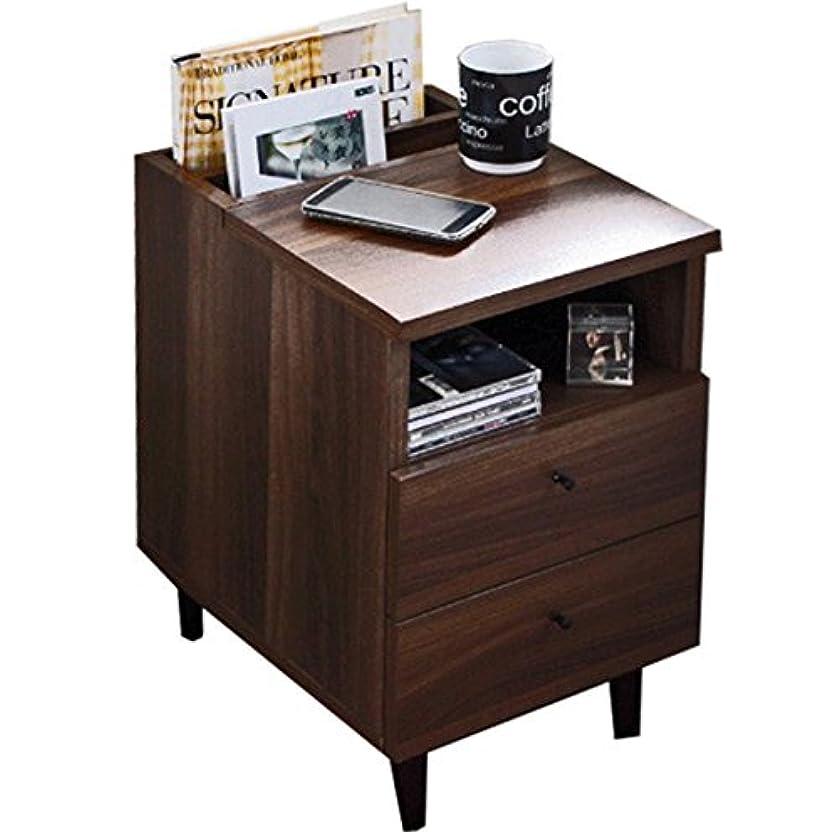 アレキサンダーグラハムベル複数引き出しサイドテーブル テーブル ベッドサイドテーブル 完成品 北欧 木製 ナイトテーブル ブラウン