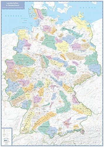 Landschaften in Deutschland - Planokarte