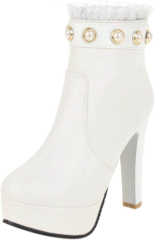 FANIMILA Ladies High Heels Party Boots Dress Platform Boots