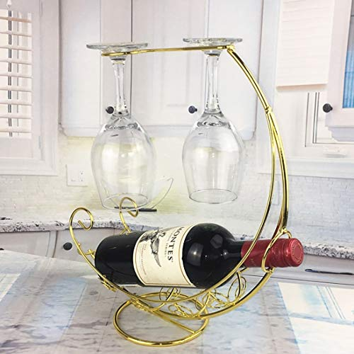 Utensilios de cocina MMGZ creativo europeo retro del metal del barco pirata del vino Estante colgante del vidrio de vino titular de la barra del soporte del sostenedor del estante del vino de la botel