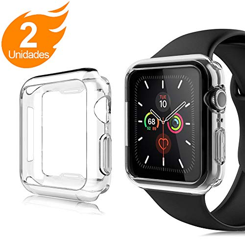 AsBellt Funda para Apple Watch 44mm Series 6 5 4 SE (2 Unidades) Protector de Pantalla, Carcasa de iWatch 44mm Serie 6/5/4/SE Hermès, Nike+ Edition