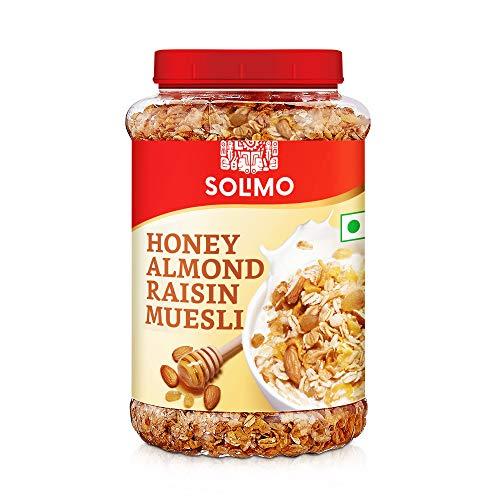 Amazon brand - Solimo Honey, Almond and Raisin Muesli, 1kg