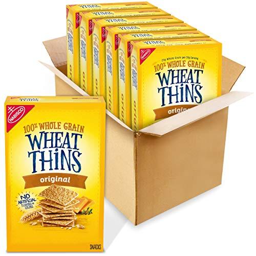 Wheat Thins Whole Grain Crackers 8.5 Oz Boxes 6, Original, 6 Count -  AmazonUs/MOQ4F