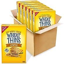 Wheat Thins Whole Grain Crackers 8.5 Oz Boxes 6, Original, 6 Count