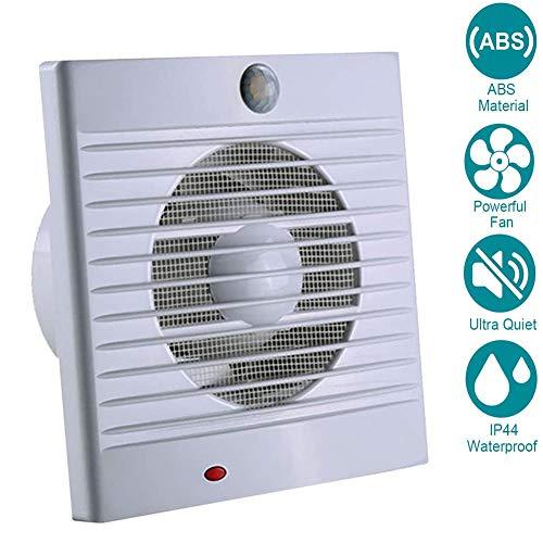Aspiratore 4inch/100 millimetri estrazione ventilazione standard di silenzio bagno cucina a basso consumo energetico, Dispositivo di rilevamento del corpo umano, 130m³ / h 12W