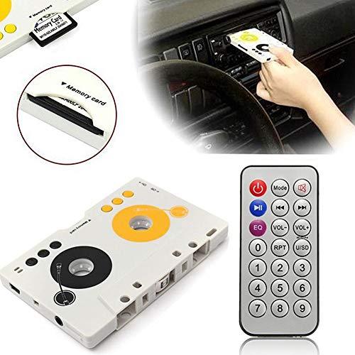 leap-G adaptercassette audio cassette auto vrachtwagen bluetooth cassette-adapter retro adaptercassette audio-cassette-adapter, met afstandsbediening, wit