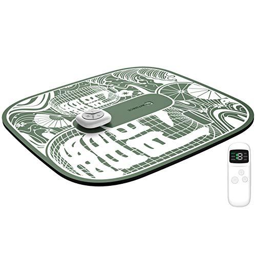 【日本企業開発】 フットマッサージャー ems スタイルマット 2020最新版 リモコン付き 6種類モード 15段階 USB充電式 フットマッサージ 足つぼマッサージ むくみ 美脚 トレーニング マッサージ器 足裏 マッサージ機 持ち運び便利 緑