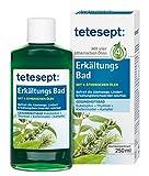 Tetesept Erkältungsbad Badekonzentrat – Badezusatz mit 4 ätherischen Ölen gegen Erkältungsbeschwerden - Atemwege befreien & Wohlbefinden fördern – 1 x 250 ml...