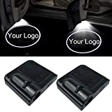 NewL 2Pcs Custom Logo Wireless LED Projector Car Door Step Courtesy Welcome Lights