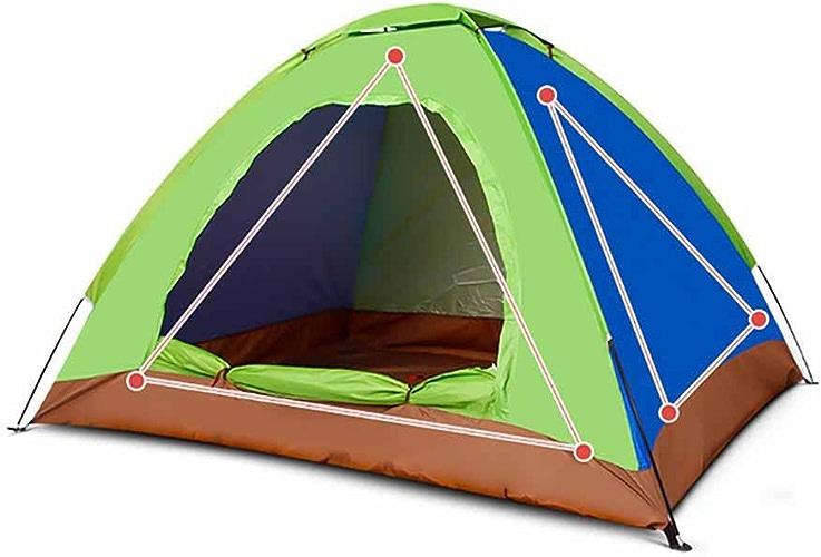 GUO 2 vitesses main ouverte personnes en plein air sur un écran solaire tente de camping double pluie