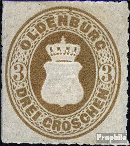 Prophila Collection Oldenburg 19B 1867 Wappen (Briefmarken für Sammler)