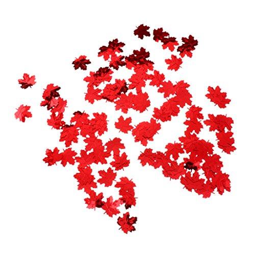 Homyl 15g Ahornblatt Konfetti Geburtstag Tischdeko Jubiläum - rot, 2 x 1,8 cm