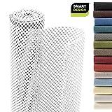 Smart Design Shelf Liner Premium Grip - (18 Inch x 8 Feet) - Drawer Cabinet Non Adhesive - Home & Kitchen [White]