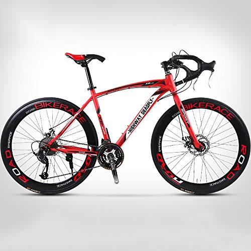 ZLMI Mountain Bike per Adulti da 26 Pollici, Bici Biammortizzata, Sistema di Trasmissione A 24 velocità, Telaio in Acciaio Ad Alto Tenore di Carbonio, Leggera E Robusta, Impugnatura Angolata,Rosso