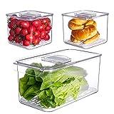 Vegetable Fruit Storage Containers,vacane 3 Pcs...