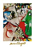 Marc Chagall I and The Village Poster Kunstdruck
