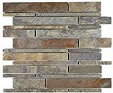 Mosaico de pizarra natural para azulejos de baño, baño, ducha, cocina, cocina, cocina, cocina, revestimiento de pared, mosaico