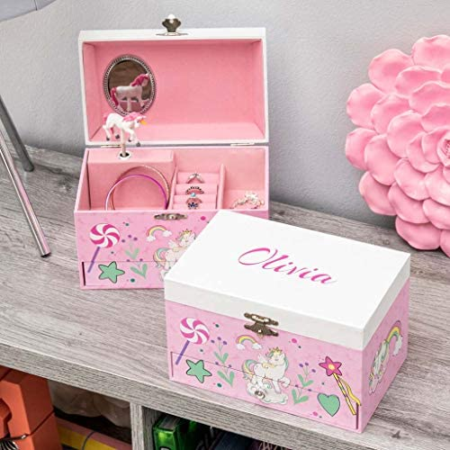 DIBSIES Personalized Musical Unicorn Jewelry Box product image