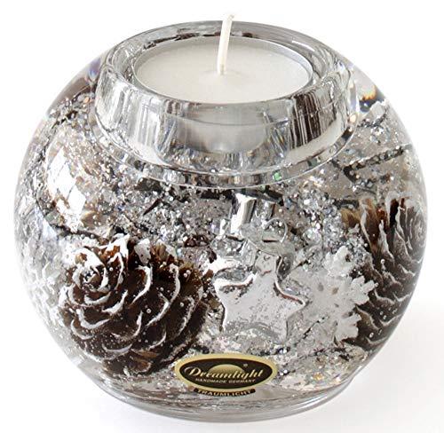 Dreamlight Teelichthalter braun Größe 9x9x8 cm