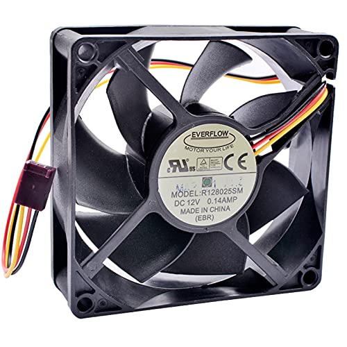 R128025SM EVERFLOW 8CM 12V 0.14A speed mute chassis CPU cooling fan
