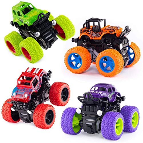 eErlik Plastic Friction Powered Cars, Pack Of 4, Multicolour