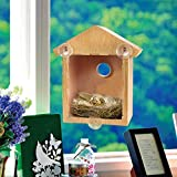 Sizet Mirrored Bird House with Suction Cups Easy to Attach On Window
