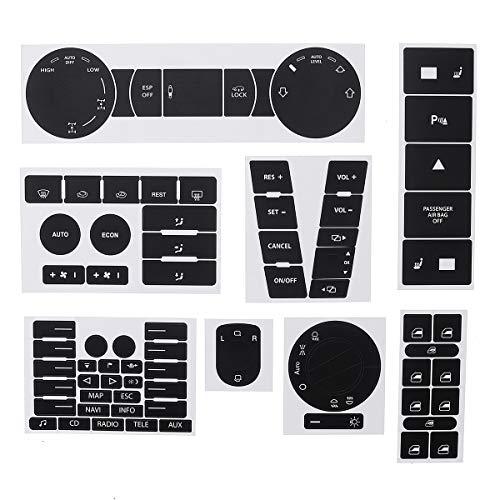 Wooya Kit De Reparación De Botón Desgastado Negro Mate