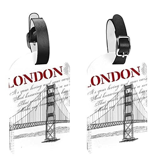London Bridge 2 PCS bagagli ID Tag valigia di corsa Tags Etichette bagaglio per evitare la perdita di borse e valigie