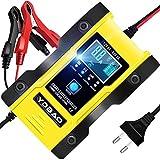 YDBAO Chargeur de Batterie pour Voiture et Moto Intelligent 6A 12V/24V Protections Multiples Type de réparation Lithium LiFePO4 et Plomb Batterie Portabler et Automatique Réparation Fonction