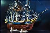 SIourso Kits De Construcción Kits De Modelo De Barco Modelo Escala 1/64 Clásico Británico Barco De Vela De Madera Modelo Bounty Mercante Barco Modelo De Madera Kit