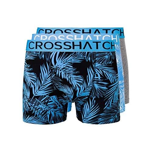 CrossHatch Mens Boxers Shorts Multipacked 3PK Underwear Gift Set 3 Pack Tresco(XL,Blue)