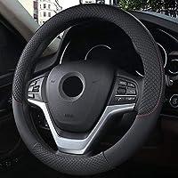 ユニバーサル直径37 / 38cmハンドルカバー通気性滑り止め車のハンドルカバーカーインテリアアクセサリー